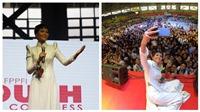 H'Hen Niê tự tin diễn thuyết trước 12.000 sinh viêntại Philippines
