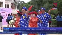 100 cặp đôi công nhân đám cưới mừng Quốc khánh