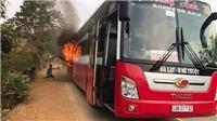 Đắk Lắk: Cháy xe khách giường nằm do kẹt phanh