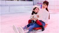 Siêu mẫu Hà Anh đưa con gái nhỏ trải nghiệm trượt tuyết