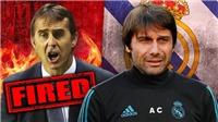 TRỰC TIẾP: Real Madrid sắp sa thải HLV Lopetegui, sẽ bổ nhiệm Conte