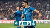 Real Betis 3-5 Real Madrid: Asensio lập cú đúp, Ronaldo giữ vững phong độ