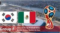 Xem TRỰC TIẾP Hàn Quốc – Mexico (22h00, 23/6) ở đâu? TRỰC TIẾP VTV6