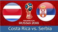 Video clip bàn thắng Costa Rica 0-1 Serbia