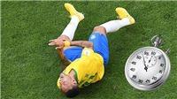CHOÁNG với số phút Neymar nằm vạ trên sân ở World Cup 2018