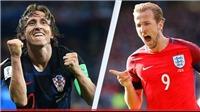 Croatia vs Anh, bán kết World Cup 2018 (1h00 ngày 12/7). VTV3 trực tiếp
