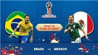 Chọn kèo Brazil vs Mexico (21h00 ngày 2/7), vòng 1/8 World Cup 2018