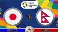 Xem trực tiếp U23 Nhật Bản vs U23 Nepal (14/8,19h00)