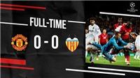 Video clip trận M.U 0-0 Valencia: 'Quỷ đỏ' không thắng trận thứ 4 liên tiếp