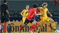 Xem trực tiếp trận U19 Hàn Quốc vs U19 Australia (19h00, 19/10), bảng C