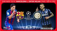 Soi kèo Barcelona vs Inter Milan (02h00 ngày 25/10)