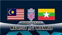 Link xem trực tiếp Việt Nam vs Campuchia, Malaysia vs Myanmar (19h30 ngày 24/11)