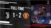 Juventus 1-2 M.U: Mata đá phạt đẹp như mơ, M.U ngược dòng giành chiến thắng