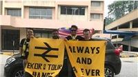 CĐV Malaysia lái xe 3 nghìn km để 'tiếp lửa' cho đội nhà ở Mỹ Đình
