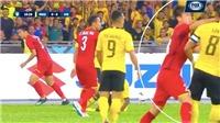 Báo Malaysia đòi Duy Mạnh phải bị thẻ đỏ sau tình huống trả đũa đối phương