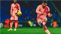 Espanyol 0-4 Barca: Messi lần đầu lập cú đúp từ đá phạt trực tiếp ở La Liga