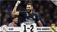VIDEO Ajax 1-2 Real Madrid: Real đặt một chân vào Tứ kết Champions League