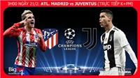 Soi kèo Atletico Madrid vs Juventus (3h00 ngày 21/2). Kèo bóng đá. Trực tiếp bóng đá K+