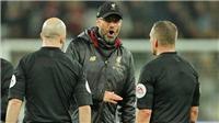 Juergen Klopp nổi đóa với trọng tài sau khi Liverpool bị West Ham chia điểm