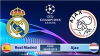 VIDEO nhận định Real Madrid vs Ajax (03h00 ngày 6/3), vòng 1/8 Cúp C1. Trực tiếp K+PC