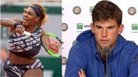 Serena Williams 'cướp' phòng họp báo của Dominic Thiem sau khi bị loại khỏi Roland Garros