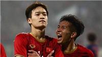 Đội hình ra sân của U23 Việt Nam: Martin Lo dự bị. Đội trưởng Bùi Tiến Dũng bắt chính