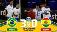 VIDEO bàn thắng Brazil 3-0 Bolivia: Coutinho tỏa sáng