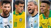 Brazil 2-0 Argentina: Messi bất lực nhìn Brazil giành vé vào Chung kết