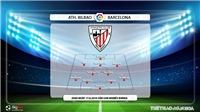 TRỰC TIẾP BÓNG ĐÁ: Athletic Bilbao vs Barcelona (2h00 ngày 17/8). Trực tiếp BĐTV