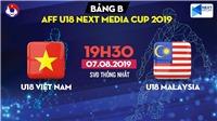 Nhận định và trực tiếp U18 Việt Nam vs U18 Malaysia (19h30 ngày 7/8)