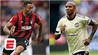 KẾT QUẢ BÓNG ĐÁ: Bournemouth 0-1 MU. Kết quả bóng đá Anh. Bảng xếp hạng Ngoại hạng Anh