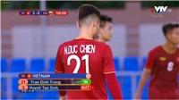 Đình Trọng... vào thay người ở trận thắng U22 Brunei trong khi đang bình luận trên VTV