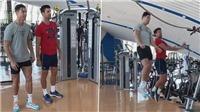Fan thích thú khi Ronaldo dạy Djokovic 'tuyệt kĩ' bật cao đánh đầu