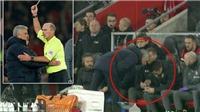 Mourinho gây sốc khi dính thẻ vàng vì... nhìn trộm ghi chép của đối thủ