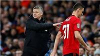 Man City 0-1 MU: Solskjaer than thẻ đỏ của Matic là một trò cười