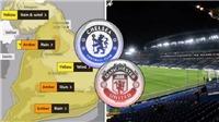 Trận Chelsea vs MU có thể bị hoãn vì bão Dennis