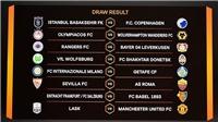 Lịch thi đấu vòng 1/8 Europa League. Lịch thi đấu của MU tại cúp C2