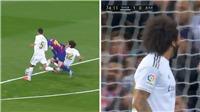 Marcelo ăn mừng như thể ghi bàn khi ngăn được Messi dứt điểm ở 'Kinh điển'