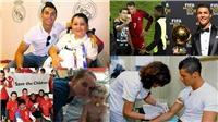 Có một Ronaldo nhân ái: Tự giảm lương, hiến máu, bán Bóng vàng làm từ thiện,...