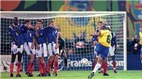 Siêu phẩm sút phạt hình quả chuối của Roberto Carlos: Khi viên đạn bay hình vòng cung