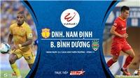 Soi kèo bóng đá DNH Nam Định vs Becamex Bình Dương.  Trực tiếp bóng đá V-League 2020