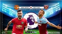 Soi kèo bóng đá. MU vs West Ham. Vòng 37 Ngoại hạng Anh. Trực tiếp K+PM