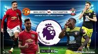 Soi kèo bóng đá MU vs Southampton. Vòng 35 giải Ngoại hạng Anh. Trực tiếp K+PM