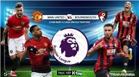 Soi kèo bóng đá MU vs Bournemouth. Trực tiếp bóng đá Ngoại hạng Anh. K+. K+PM