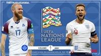 Soi kèo, nhận định Iceland vsAnh (23h00 ngày 5/9). UEFA Nations League 2020-21. BĐTV