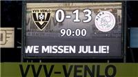 Cầu thủ Ajax ghi 5 bàn, kiến tạo 3 lần trong trận thắng kỷ lục 13-0
