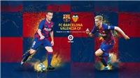 Kết quả Barcelona 2-2 Valencia: Messi và Araujo ghi bàn, Barcelona vẫn không giành được chiến thắng