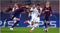 Bị Pique túm áo, Messi và Busquets vây ráp, Mbappe vẫn rực sáng trước Barcelona