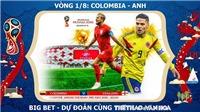 Chọn kèo Thuỵ Điển vs Thuỵ Sĩ (21h ngày 3/7) và Colombia vs Anh (01h ngày 4/7)