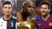 Ronaldo vượt Messi trong danh sách 10 VĐV thập niên 2010